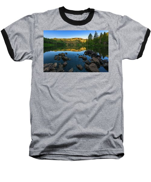 Morning Reflection On Castle Lake Baseball T-Shirt