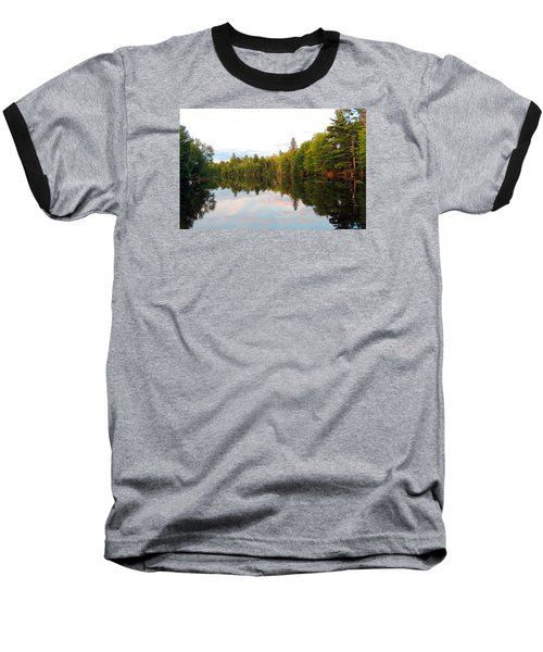 Baseball T-Shirt featuring the photograph Morning Reflection by Teresa Schomig