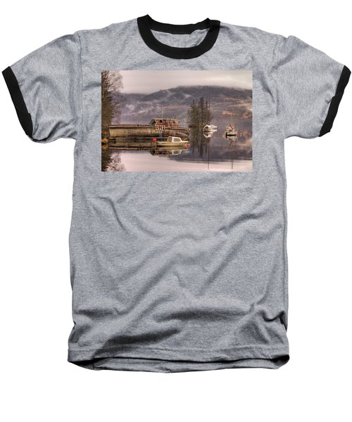 Morning Reflections Of Loch Ness Baseball T-Shirt by Ian Middleton