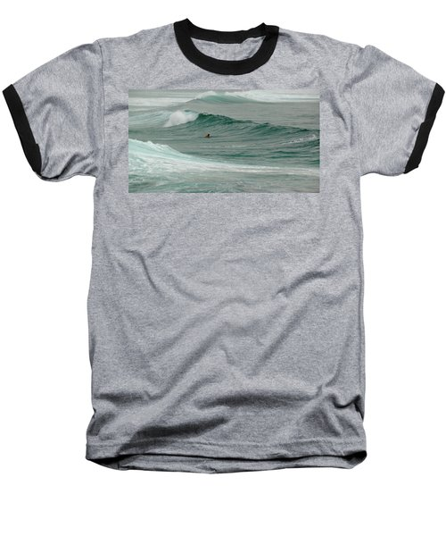 Morning Ride Baseball T-Shirt by Evelyn Tambour