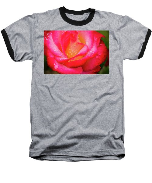 Baseball T-Shirt featuring the photograph Morning Rose For You by Ken Stanback