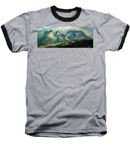 Baseball T-Shirt featuring the photograph Morning Shadows by Andrew Matwijec