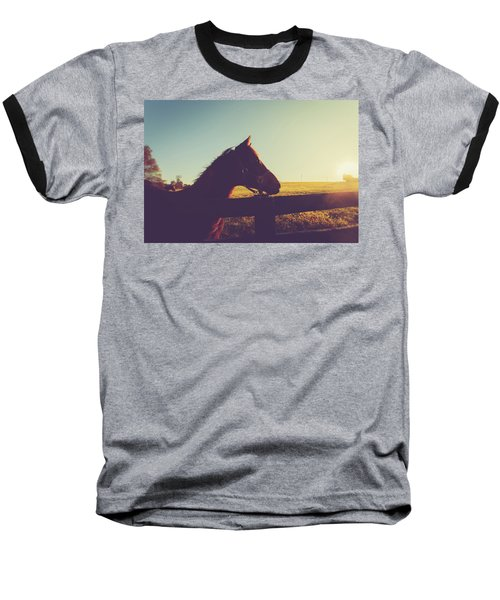 Baseball T-Shirt featuring the photograph Morning  by Shane Holsclaw