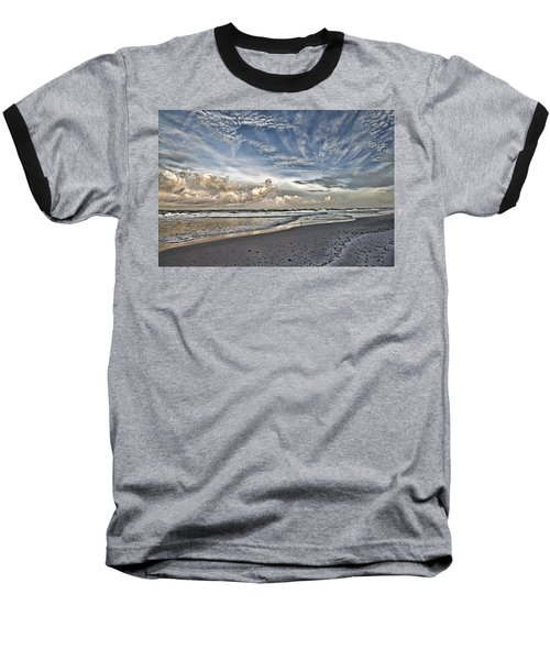 Morning Sky At The Beach Baseball T-Shirt