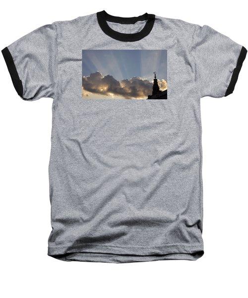 Baseball T-Shirt featuring the photograph Morning Sky by Inge Riis McDonald