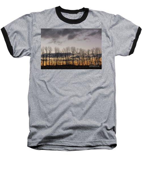 Morning Sky Baseball T-Shirt by Nicki McManus