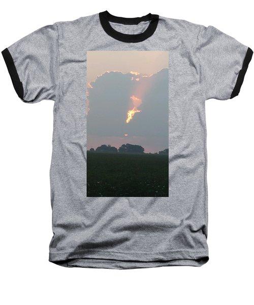 Morning Sky On Fire Baseball T-Shirt