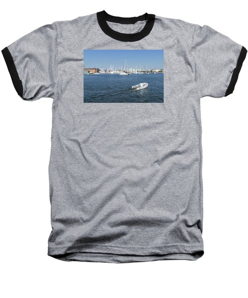 Baseball T-Shirt featuring the photograph Solitude On The Creek by Charles Kraus