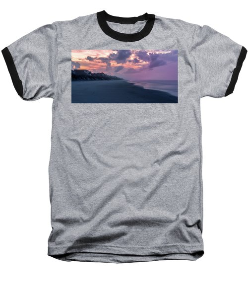 Morning Stroll On The Beach Baseball T-Shirt