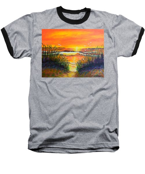 Morning Sun Baseball T-Shirt by Melvin Turner