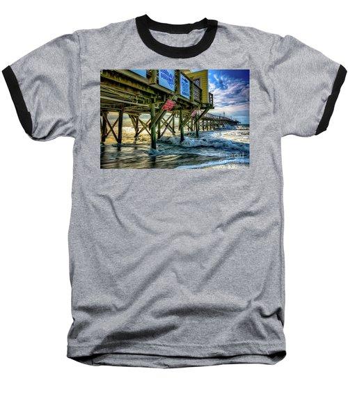 Morning Sun Under The Pier Baseball T-Shirt