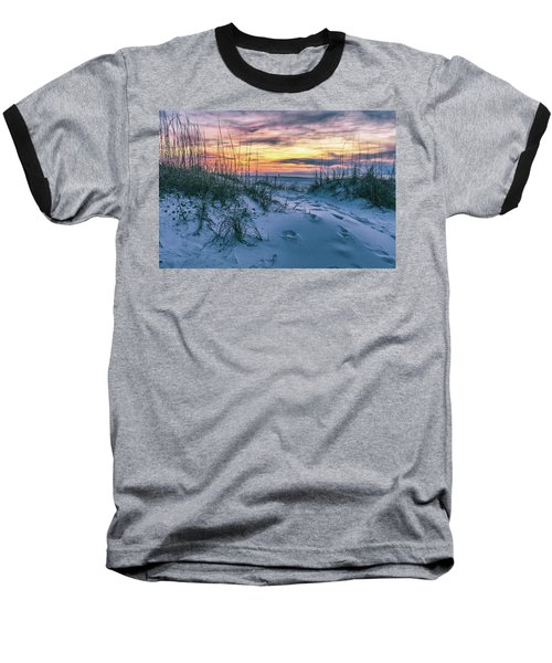 Baseball T-Shirt featuring the photograph Morning Sunrise At The Beach by John McGraw
