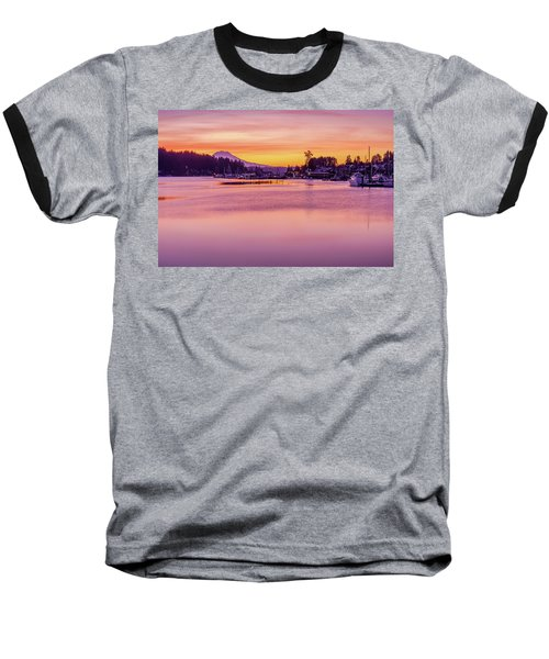 Baseball T-Shirt featuring the photograph Morning Sunrise In Gig Harbor by Ken Stanback