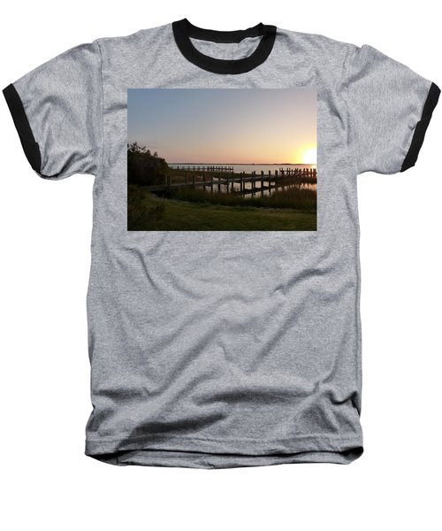 Morning Sunrise Over Assateaque Island Baseball T-Shirt by Donald C Morgan