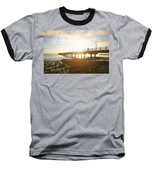 Morning Sunshine At The Pier  Baseball T-Shirt