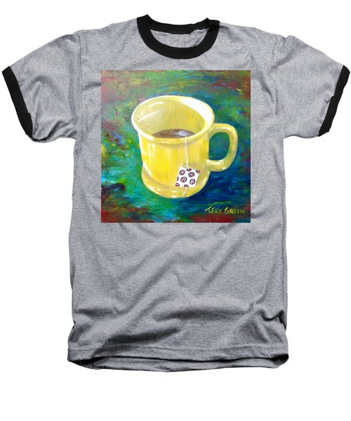 Morning Tea Baseball T-Shirt by T Fry-Green