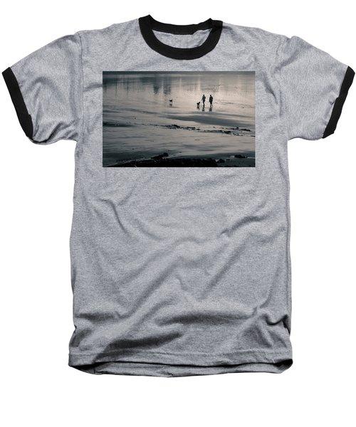 Morning Walk, Gooch's Beach, Kennebunk, Maine Baseball T-Shirt