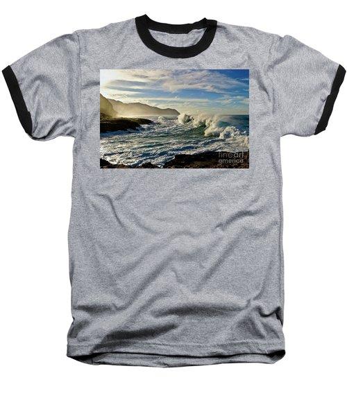 Morning Waves At Kaena Baseball T-Shirt