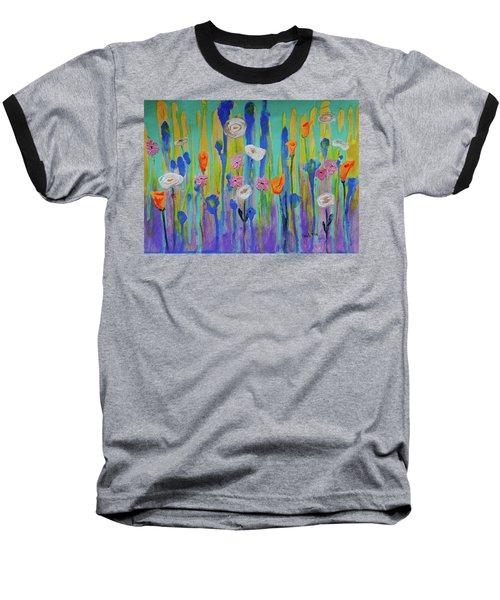 Morning Wildflowers Baseball T-Shirt