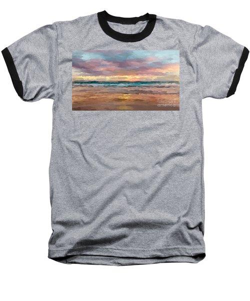 Morning Beachscape Baseball T-Shirt