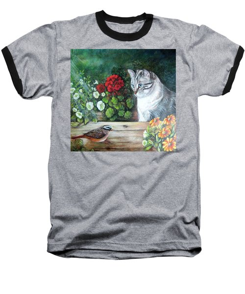 Baseball T-Shirt featuring the painting Morningsurprise by Patricia Schneider Mitchell