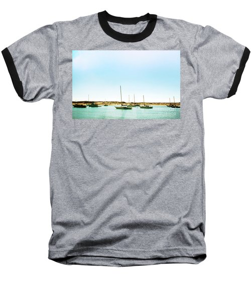 Moro Bay Inlet With Sailboats Mooring In Summer Baseball T-Shirt