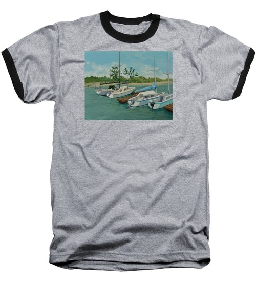 Baseball T-Shirt featuring the painting Morro Bay State Park Ca by Katherine Young-Beck