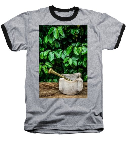 Mortar And Pestle Baseball T-Shirt by Marco Oliveira