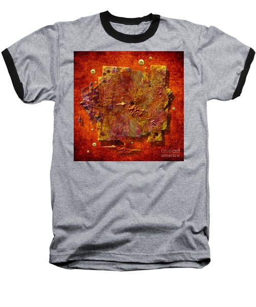 Baseball T-Shirt featuring the painting Mortar Disc by Alexa Szlavics