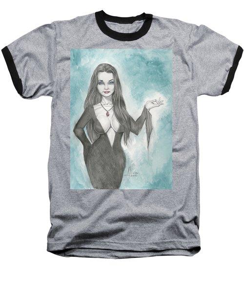 Morticia Addams Baseball T-Shirt