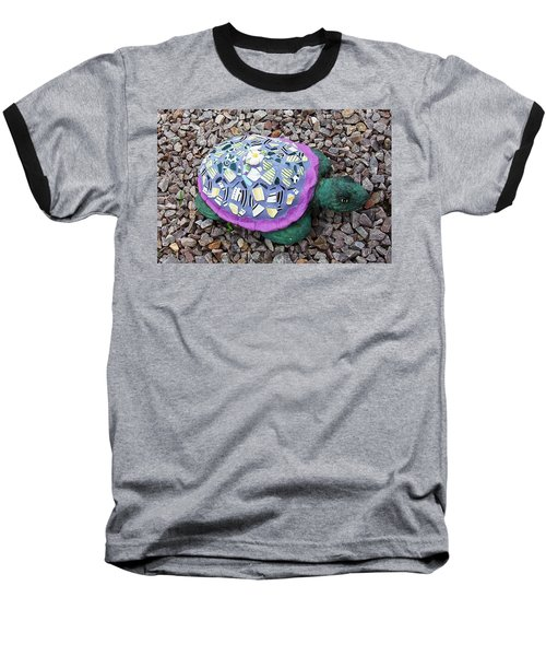 Mosaic Turtle Baseball T-Shirt by Jamie Frier