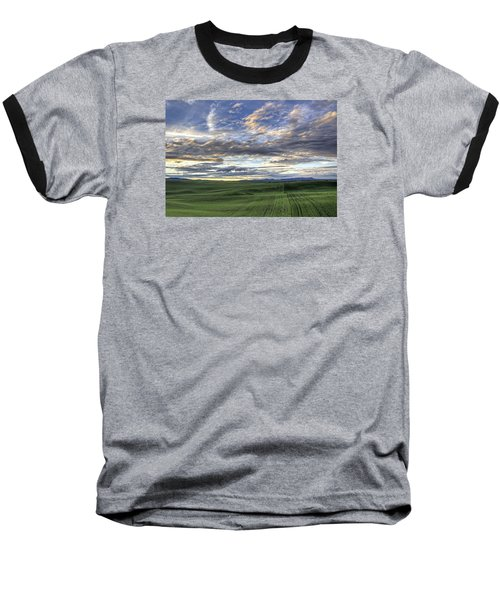 Moscow Mtn Sunset Baseball T-Shirt
