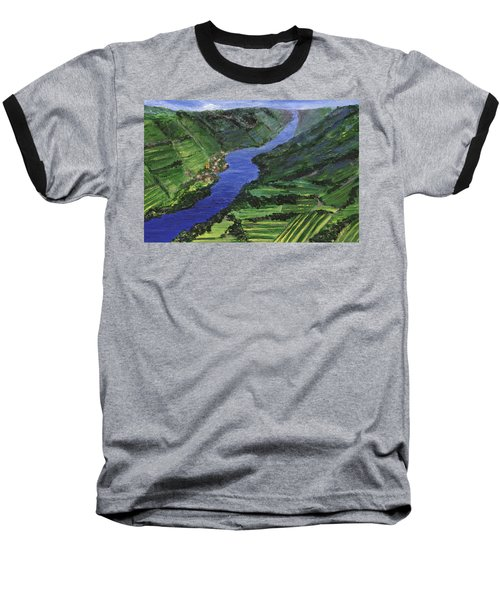 Baseball T-Shirt featuring the painting Moselle River by Jamie Frier