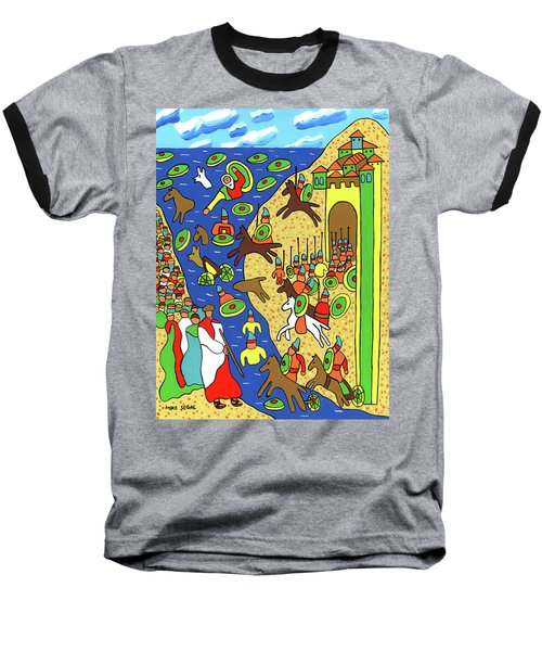 Moses Parting The Red Sea Baseball T-Shirt