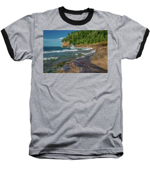 Mosquito Harbor Waves  Baseball T-Shirt