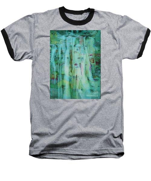Mossy Falls Baseball T-Shirt by Elizabeth Carr
