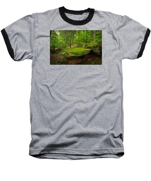 Mossy Rocks In Little Creek Park Baseball T-Shirt