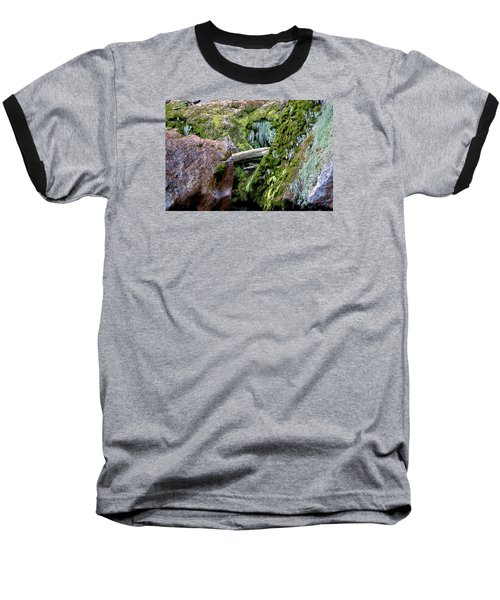 Baseball T-Shirt featuring the photograph Mossy Rocks by Phyllis Denton