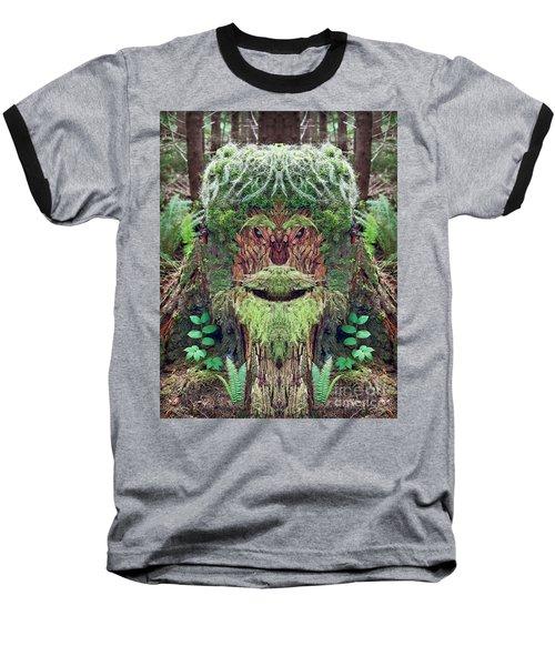 Baseball T-Shirt featuring the photograph Mossman Tree Stump by Martin Konopacki