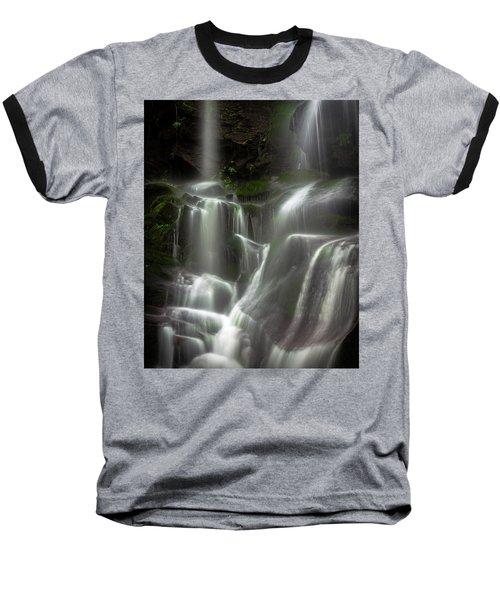Mossy Waterfall Baseball T-Shirt