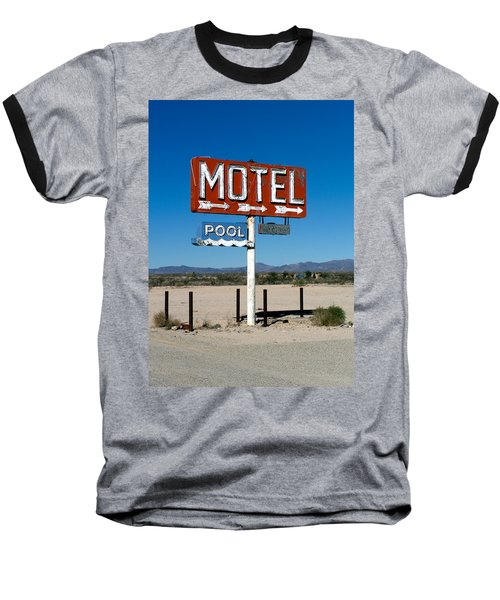Motel Sign On I-40 And Old Route 66 Baseball T-Shirt