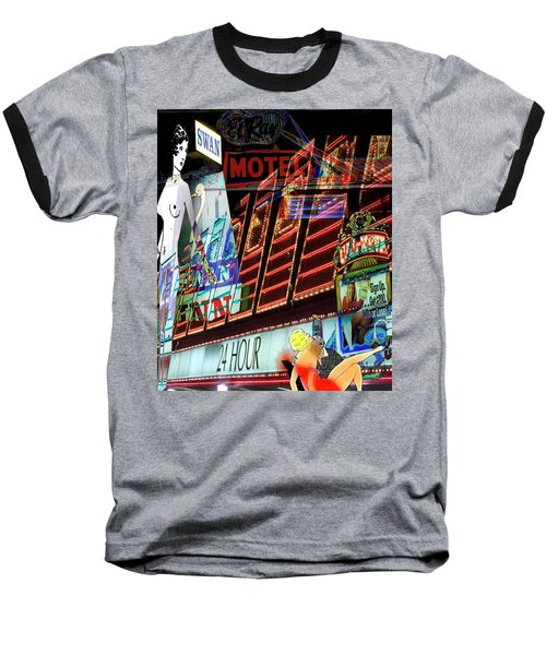 Motel Variations 24 Hours Baseball T-Shirt by Ann Tracy