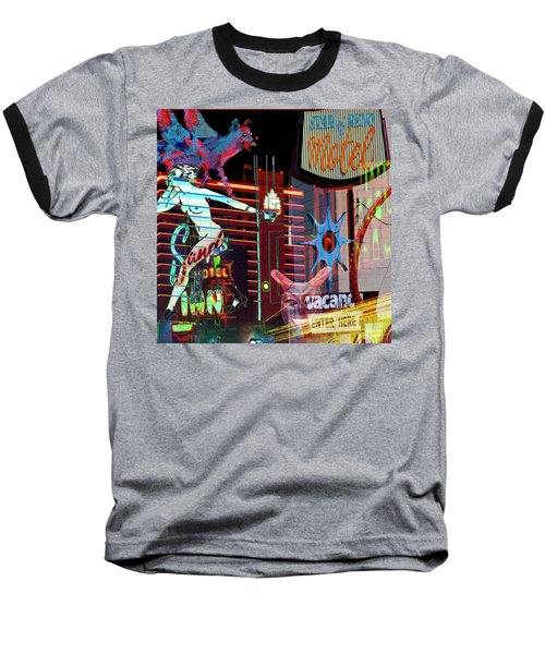 Motel Variations Night Of The Flyng Coyote Baseball T-Shirt