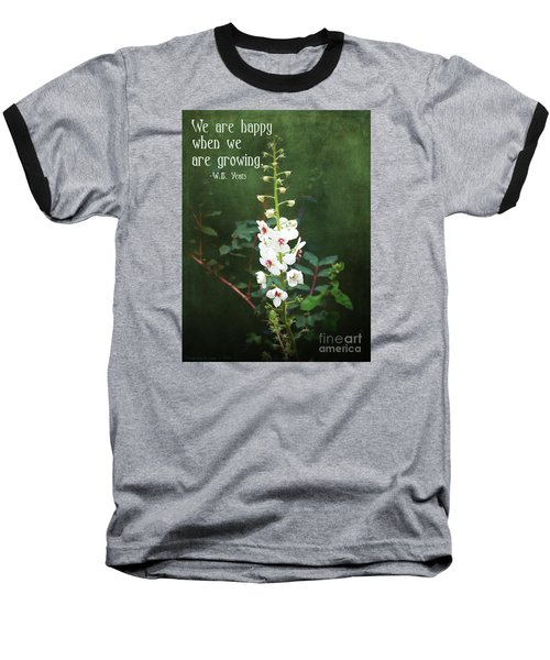 Baseball T-Shirt featuring the photograph Moth Mullein by Gena Weiser