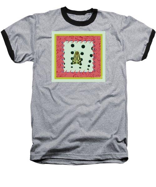 Moth Red Border Baseball T-Shirt