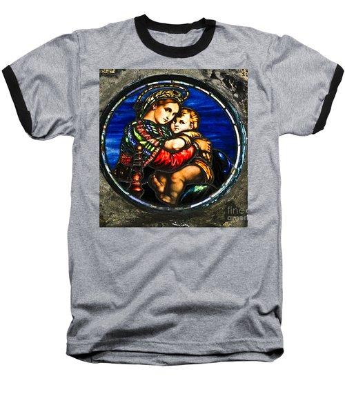 In God We Trust Wall Art Print Baseball T-Shirt by Carol F Austin