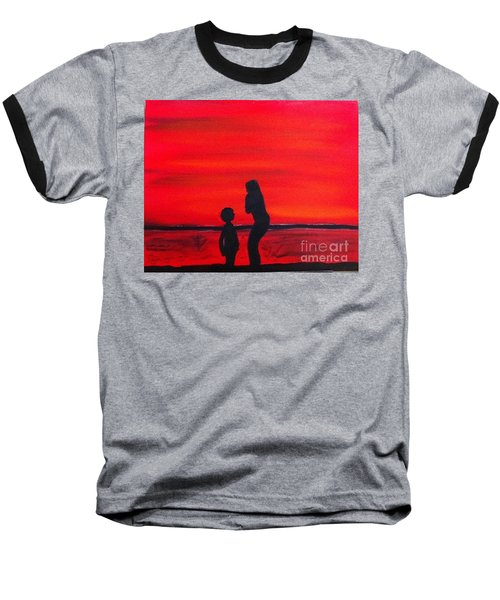 Baseball T-Shirt featuring the painting Mother And Child by Rod Jellison