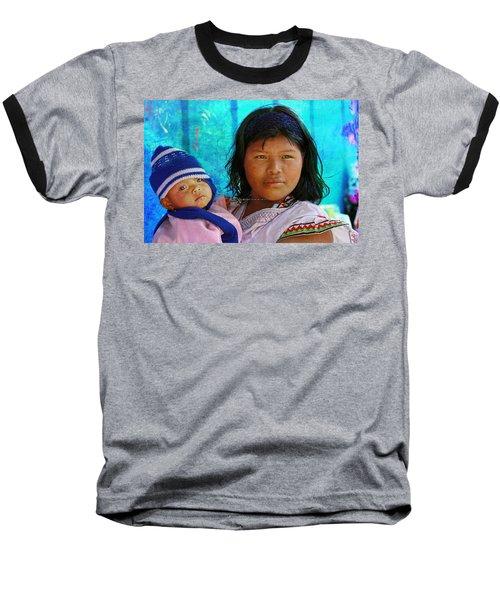 Kuna Yala - Mother And Child Baseball T-Shirt