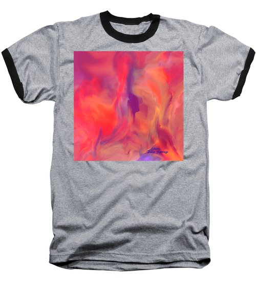 Mother And Daughter Abstract Baseball T-Shirt by Sherri's Of Palm Springs