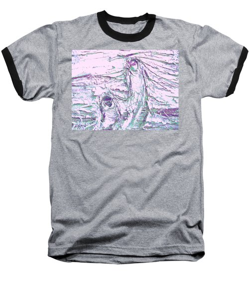 Mother And Daughter Against The Wind Baseball T-Shirt by Karl Reid